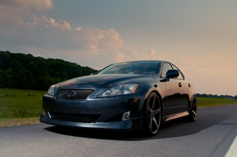 Beautiful Sunset and Lexus Car on Nice Wheels by Don Wright Murfreesboro Photography
