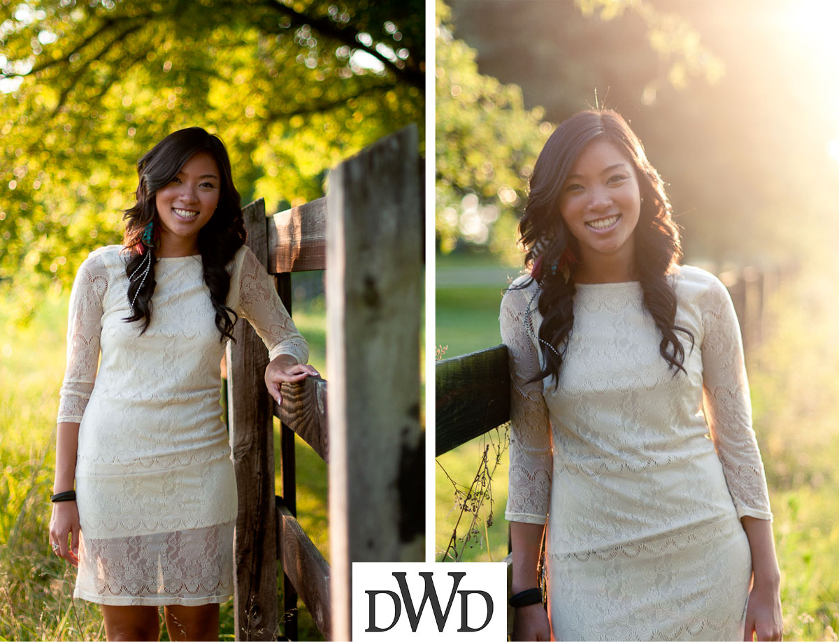 Outdoor Senior Portrait Session | Gallatin Senior Photos | asian girl near fence