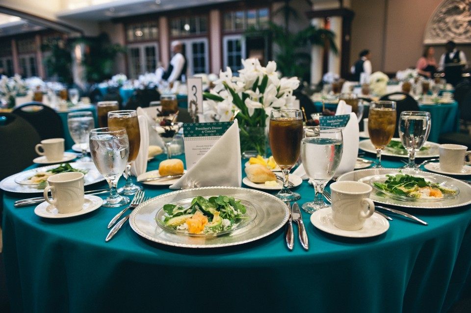 table decorations and colorful presentation | Nashville Event Photography