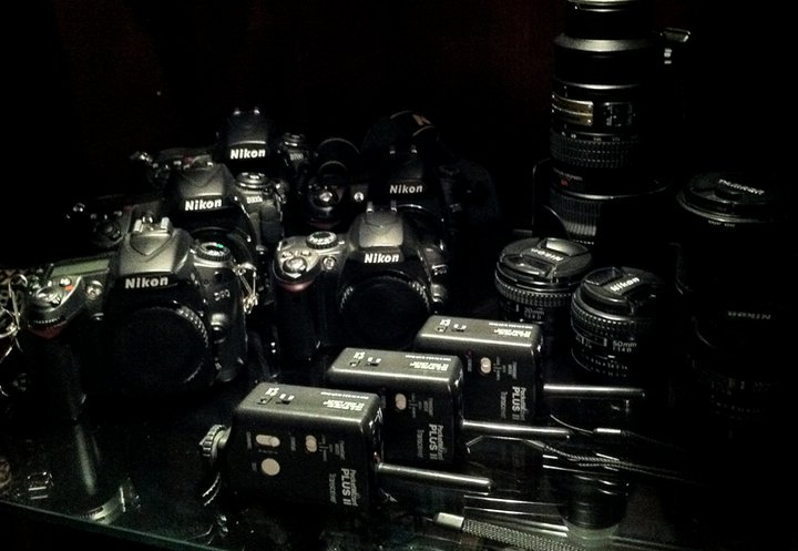 nikon cameras and pocketwizards and lenses