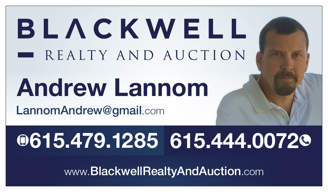Andrew Lannom Business Card Blackwell Realty TN