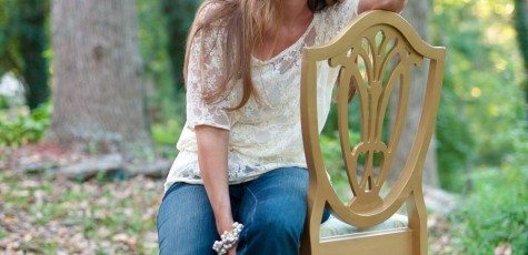 Kristie Barnett - Outdoor Sunflare woman in trendy chair with sunlight